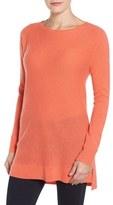Halogen High/Low Wool & Cashmere Tunic Sweater (Regular & Petite)