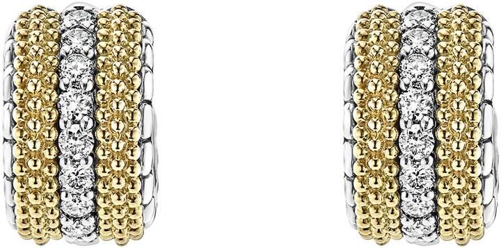 Lagos Lux Diamond Hoop Earrings