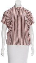 Vanessa Bruno Striped Silk Top