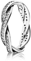 Pandora Ring Twist of Fate, Clear Cubic Zirconia, Size 48 EUR
