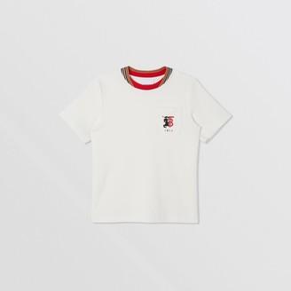 Burberry Contrast Logo Graphic Jersey Mesh T-shirt