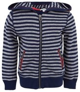 Splendid Navy Stripe Zip-Up Hoodie