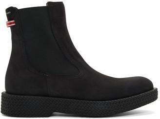 Salvatore Ferragamo Black Suede Tosco Boots