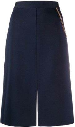 Givenchy Chain Detailed Straight Skirt