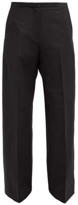 KHAITE Charlize Cotton-twill Wide-leg Trousers - Womens - Black