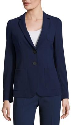 Armani Collezioni Textured Two Button Jacket