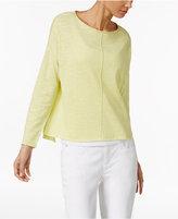 Eileen Fisher Long-Sleeve Seam-Detail Sweater