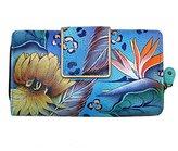 Anuschka Handpainted Leather Two Fold Organizer Wallet