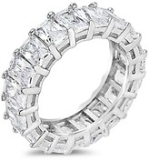 Thumbnail for your product : Sterling Forever Crystal and Sterling Silver Band Ring