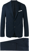 Neil Barrett deconstructed narrow peak suit - men - Cotton/Polyester/Spandex/Elastane/Viscose - 48