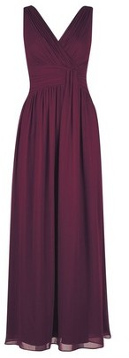 Dorothy Perkins Womens **Showcase Tall Oxblood 'Darcy' Maxi Dress