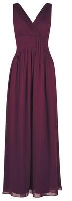 Dorothy Perkins Womens Showcase Tall Oxblood 'Darcy' Maxi Dress