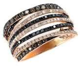Effy Black, Brown And White Diamond 14K Rose Gold Ring, 1.08 TCW