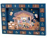 Kurt Adler J3767 Wooden Nativity Advent Calendar with 24 Magnetic Figures