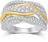MODERN BRIDE Womens 1 CT. T.W. Genuine White Diamond 10K Gold Wedding Band