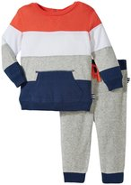 Splendid Stripe Pant Set (Baby) - Orange - 6-12 Months Months