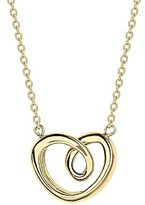 Georg Jensen 18ct Yellow Gold Modern Heart Pendant Small Necklace