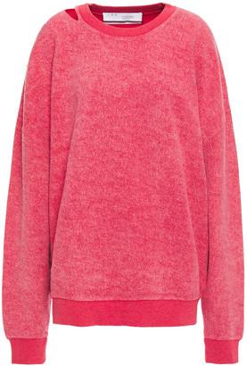 IRO Holman Cutout Cotton-blend Fleece Sweatshirt