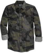 American Rag Men's Supreme Camouflage Long-Sleeve Shirt, Only at Macy's