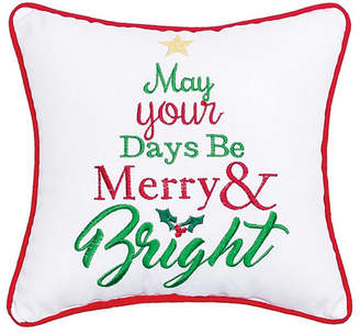 C&F Home C & F Home Merry Bright Embroidered Pillow