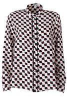 Kenzo Post-it Silk Jaquard Blouse