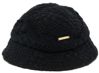 Marine Serre Cotton Terry-towelling Bucket Hat - Black
