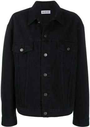 Balenciaga embellished logo denim jacket