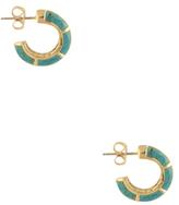 House Of Harlow Turquoise Revolution Mini Hoop Earrings