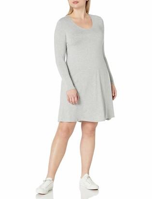 Amazon Brand - Daily Ritual Women's Plus Size Jersey Long-Sleeve V-Neck Dress 2X
