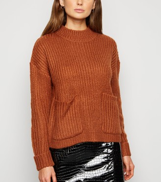 New Look Urban Bliss Utility Ribbed Knit Jumper