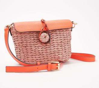Vince Camuto Straw Crossbody Handbag - Kiana