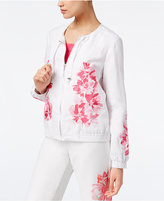 INC International Concepts Petite Embroidered Bomber Jacket, Created for Macy's