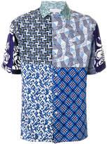 Pierre Louis Mascia Pierre-Louis Mascia patchwork print shirt
