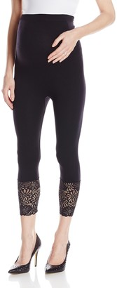 Lamaze Women's Lace Bottom Crop Legging