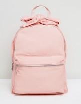 Asos Bow Detail Denim Backpack