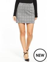 Very Jersey Check Mini Skirt