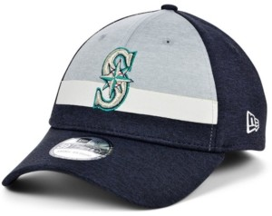 New Era Men's Seattle Mariners Striped Shadow Tech 39THIRTY Cap