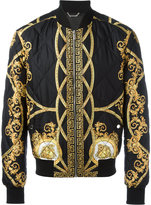 Versace Lenticular Foulard bomber jacket - men - Cotton/Acrylic/Spandex/Elastane/Viscose - 48