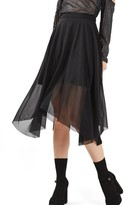 Topshop Women's Tulle Midi Skirt