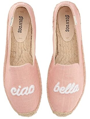 Soludos Ciao Bella Smoking Slipper (Dusty Rose) Women's Flat Shoes