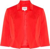 Studio 8 Plus Size Cropped cotton-blend jacket