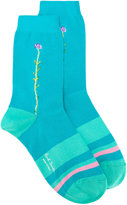 Paul Smith embroidered flower socks - women - Cotton/Polyamide/Spandex/Elastane - One Size