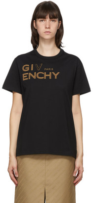 Givenchy Black Embroidered Logo T-Shirt