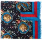 Gucci Lion print scarf