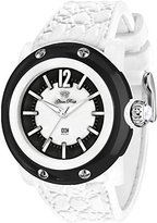 Glam Rock Unisex Miami Beach 46mm White Silicone Band Polycarbonate Case Quartz Black Dial Watch GR2400
