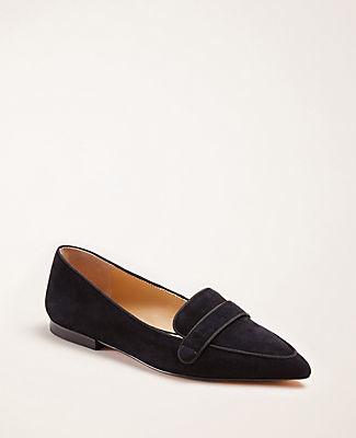 Ann Taylor Luann Suede Loafer Flats