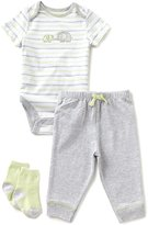 Little Me Baby Boys 3-12 Months Elephant 3-Piece Layette Set