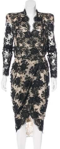 Alexander McQueen Structured Lace Dress