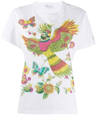RED Valentino Bird of Paradise printed T-shirt