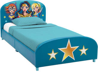 Equipment Delta Children Dc Super Hero Girls Upholstered Twin Bed